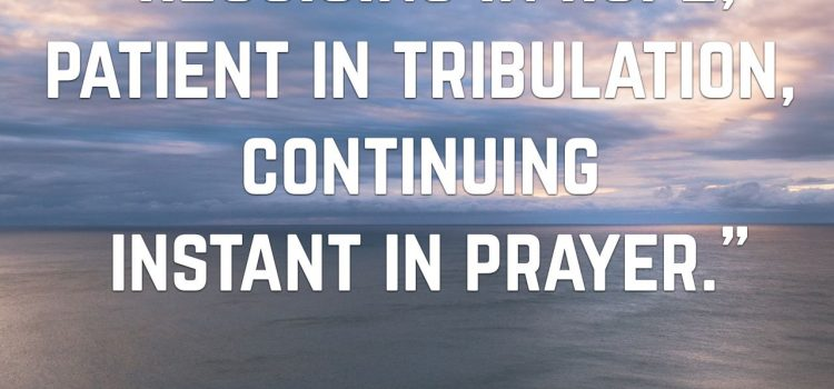 The expectation of prayer